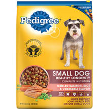 Pedigree Complete Nutrition Small Dog Healthy Longevity Grilled Salmon Rice and Vegetable Flavor Dog Food
