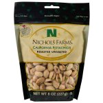 Roasted Unsalted Pistachios 8 Oz