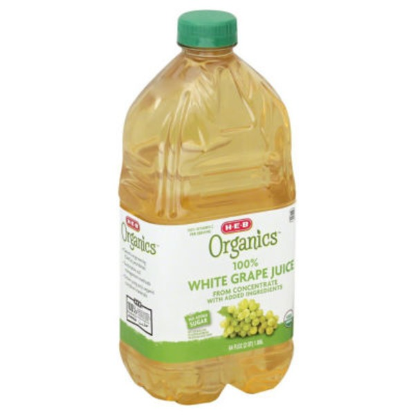 H-E-B 100% Organics White Grape Juice