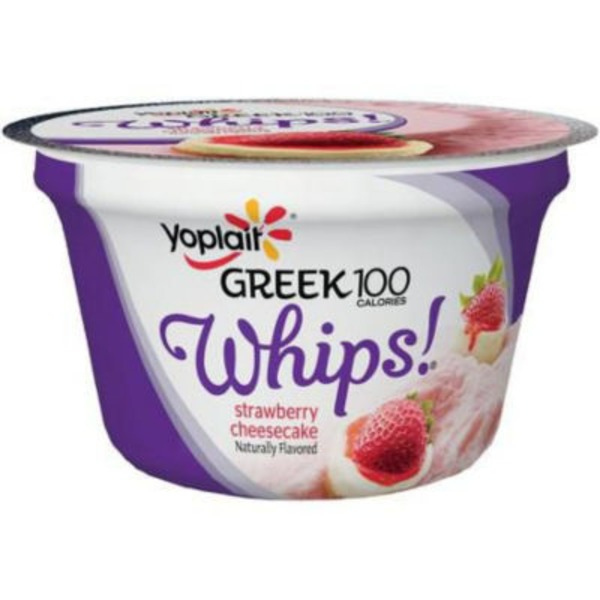 Yoplait Greek 100 Whips! Strawberry Cheesecake Fat Free Yogurt Mousse