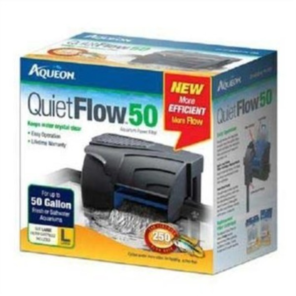 Aqueon Quiet Flow Aquarium Power Filters Quiet Flow 50