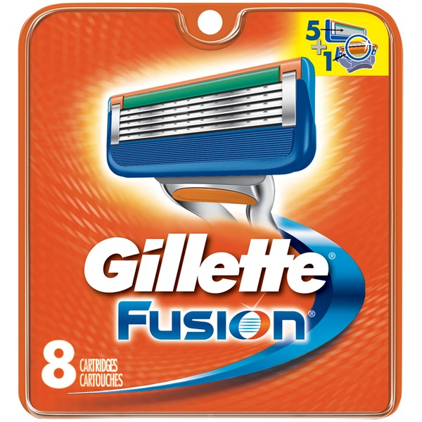 Gillette Fusion Manual Men's Razor Blade Refills, 8 Count  Male Premium BladeRazor System