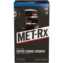 MET-Rx Big 100 Colossal Super Cookie Crunch Meal Replacement Bars, 4 count