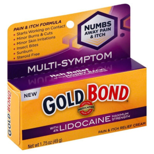 Gold Bond Pain & Itch Relief Cream with Lidocaine Maximum Strength