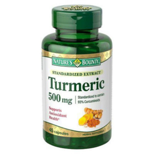 Nature's Bounty Turmeric, Standardized Extract, 500 mg, Capsules