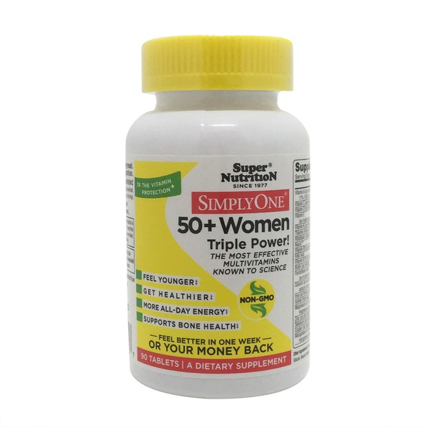 Super Nutrition Simply One 50+ Women High Energy Multivitamins