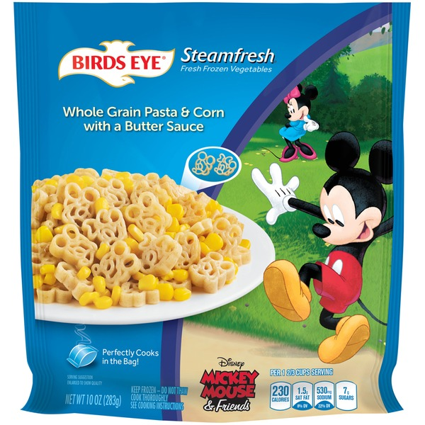 Steamfresh Disney Mickey Mouse & Friends Whole Grain Pasta & Corn Frozen Entree