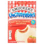 Smucker's Uncrustables Peanut Butter & Strawberry Jam Soft Bread Sandwiches, 2 oz, 4 pack