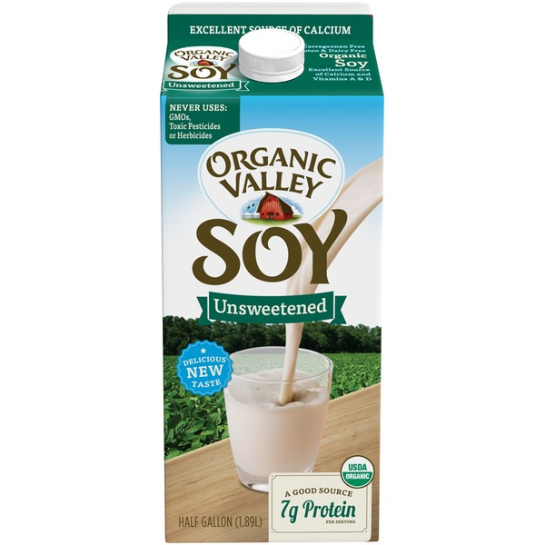 Organic Valley 64 oz Unsweetened Soy Beverage