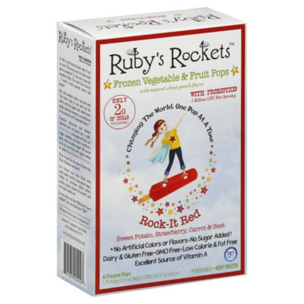 Ruby Rocket's Rock It Red Frozen Veggie and Fruit Pops