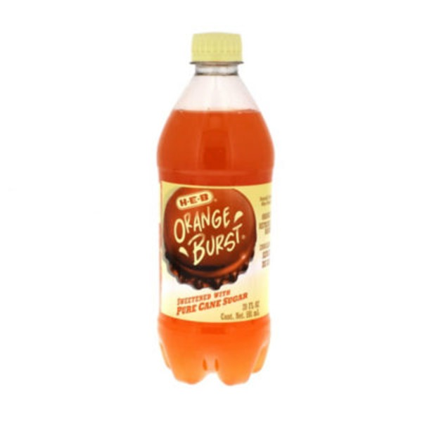 H-E-B Orange Burst Pure Cane Sugar Soda