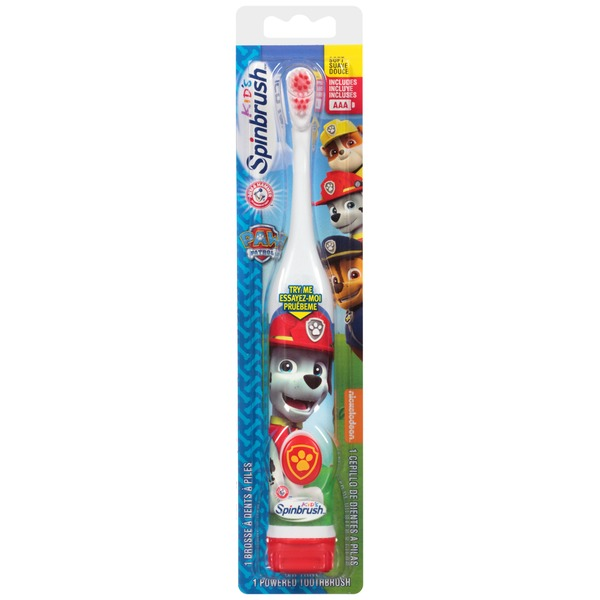 Arm & Hammer Spinbrush Kids Paw Patrol Soft Powered Toothbrush