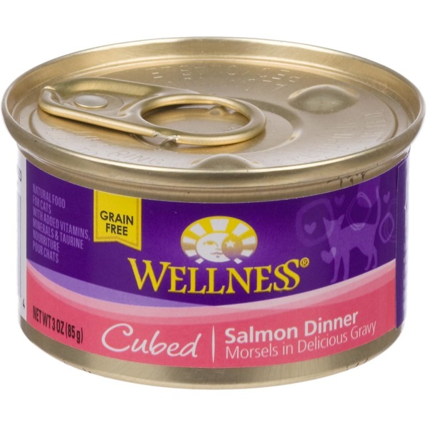 Wellness Cubed Canned Cuts Salmon Adult Canned Cat Food