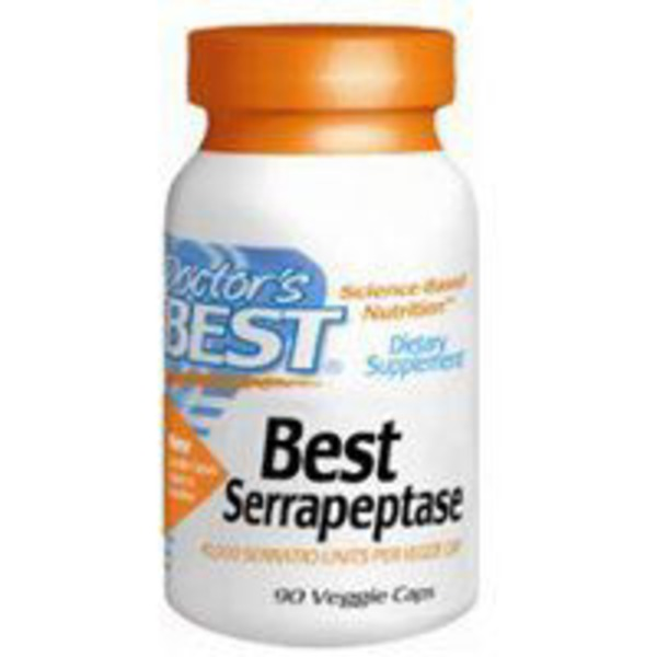 Doctor's Best Serrapeptase 500 mg Vegetarian Capsule