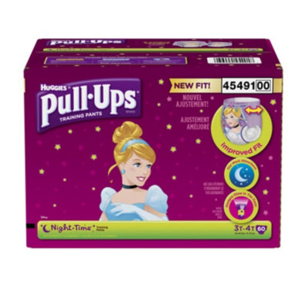 Huggies Pull-Ups Training Pants Disney Night-Time 3T-4T - 60 CT