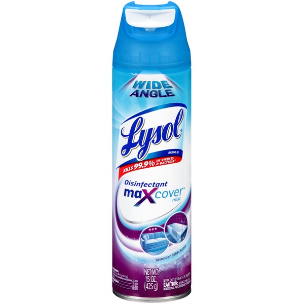Lysol MaXcover Mist Lavender Fields Scent Disinfectant