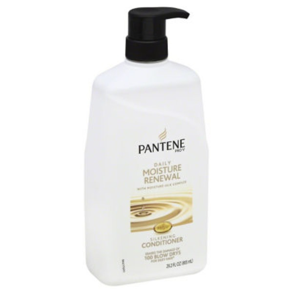 Pantene Daily Moisture Renewal Pantene Pro-V Daily Moisture Renewal Hydrating Conditioner 28 fl oz with Pump - Moisturizing Conditioner  Female Hair Care