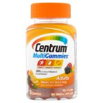 Centrum MultiGummies Adult (70 Count, Natural Cherry, Berry, & Orange Flavor) Multivitamin / Multimineral Supplement Gummies