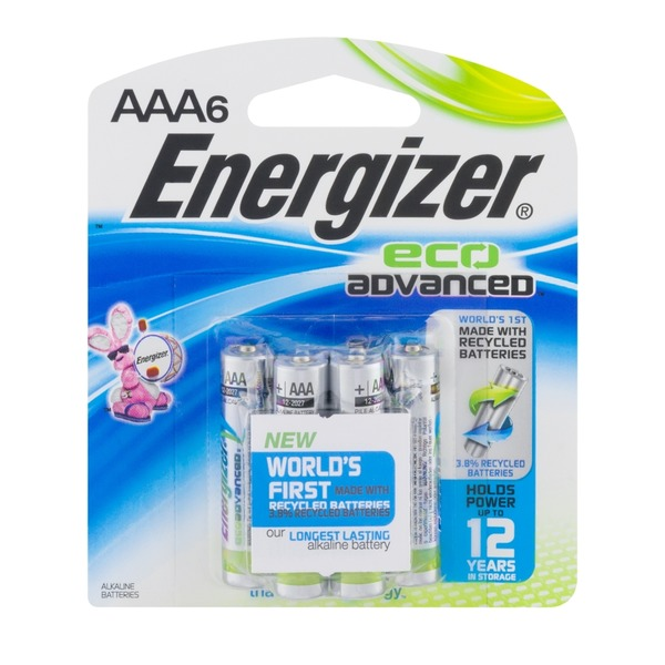 Energizer Eco Advanced Alkaline AAA Batteries