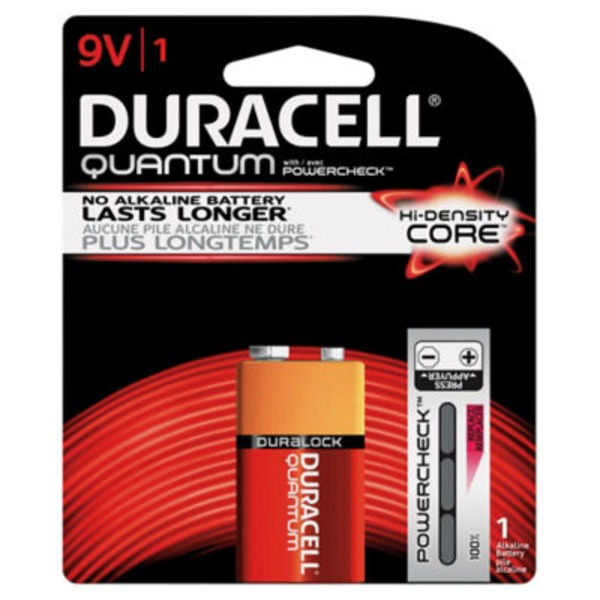 Duracell Quantum Duracell Quantum Alkaline 9V Batteries 1 Count  Primary Major Cells