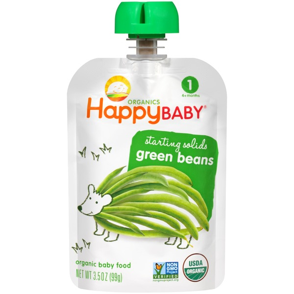 Happy Baby/Family Starting Solids Green Beans Organic Baby Food