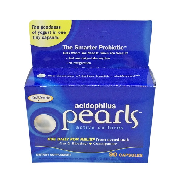 Enzymatic Therapy Acidophilus Active Cultures Pearl Capsules