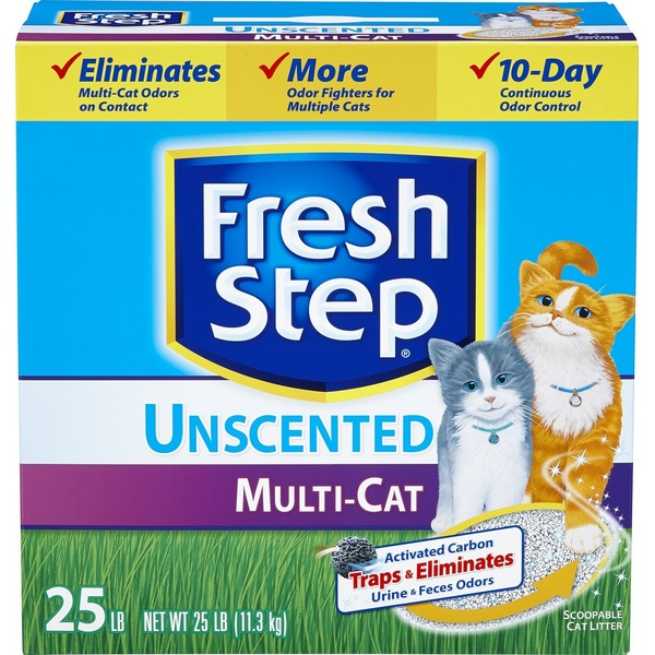 Fresh Step Multi-Cat Unscented Cat Litter
