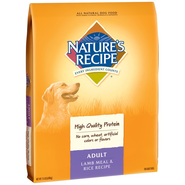 Nature's Recipe Adult Lamb Meal & Rice Recipe Dog Food