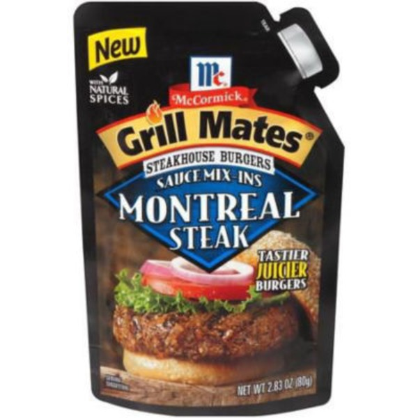 Mccormick Grill Mates Steakhouse Burgers Sauce Mix-Ins Montreal Steak Seasoning Mix