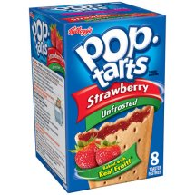 Kellogg's Pop-Tarts Strawberry Unfrosted Toaster Pastries 8 Ct 14.7 oz