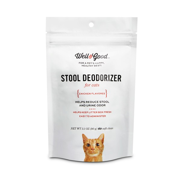 Well & Good Stool Deodorizer Soft Cat Chews Pack Of 60 Chews