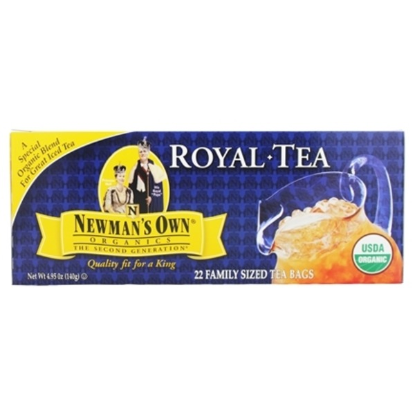 Newman's Own Organic Spo Tea Og Black Family Size