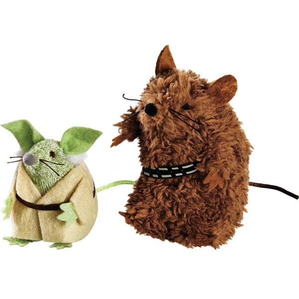 Star Wars Yoda & Chewbacca Mice Cat Toys Pack Of 2