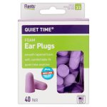 Flents Quiet Time Comfort Foam Ear Plugs, 40 pr