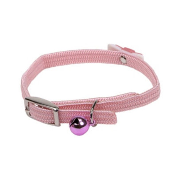 Coastal Pet Li'l Pals Adjustable 6 8&Quot; Pink Kitten Collar With Bow