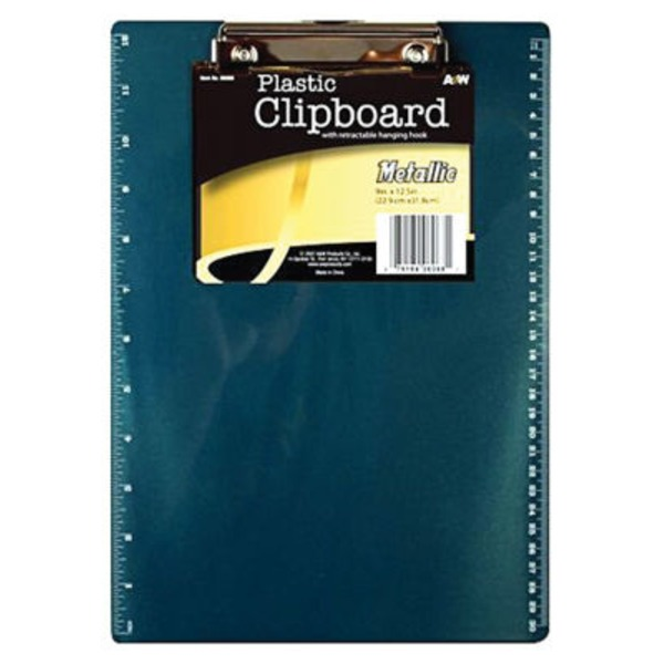 A &Amp; W Metallic Clipboard