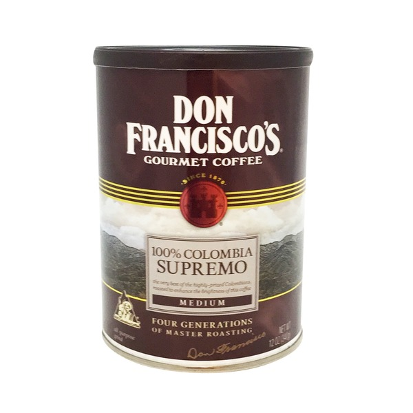 Don Francisco's 100% Colombia Supremo Ground Coffee, Canister