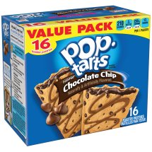 Kellogg's Pop-Tarts Chocolate Chip Toaster Pastries, 16 count