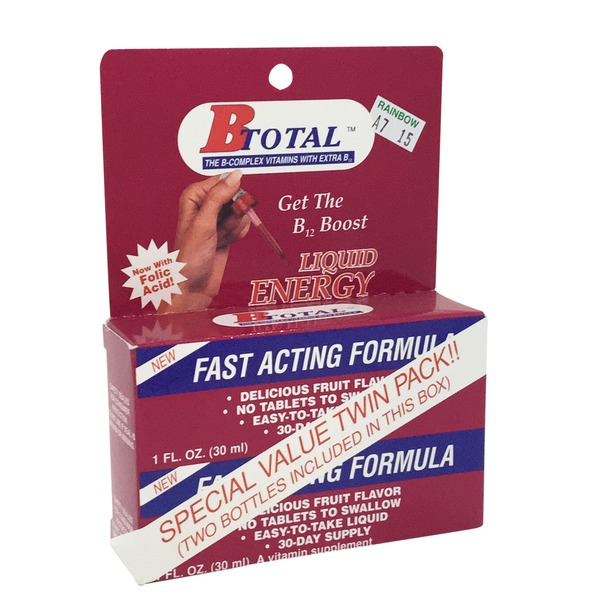 B Total B12 Boost Liquid Energy Twin Pack