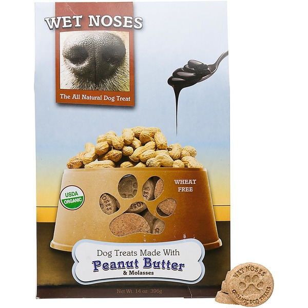 Wet Noses Peanut Butter & Molasses Organic Dog Treat