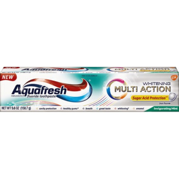 Aquafresh Whitening Multi Acition Invigorating Mint Fluroide Toothpaste
