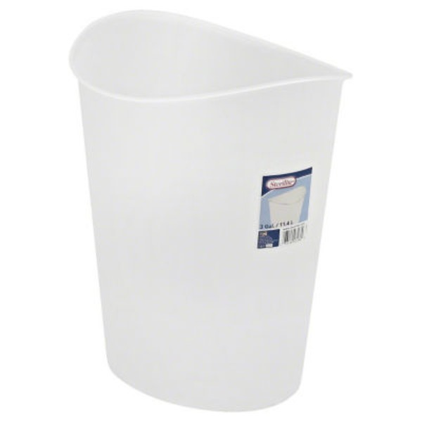 Sterilite Wastebasket, 3 Gallon, Clear