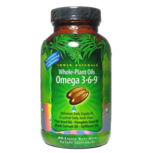 Irwin Naturals Whole Plant Oils Omega 3-6-9 Softgels