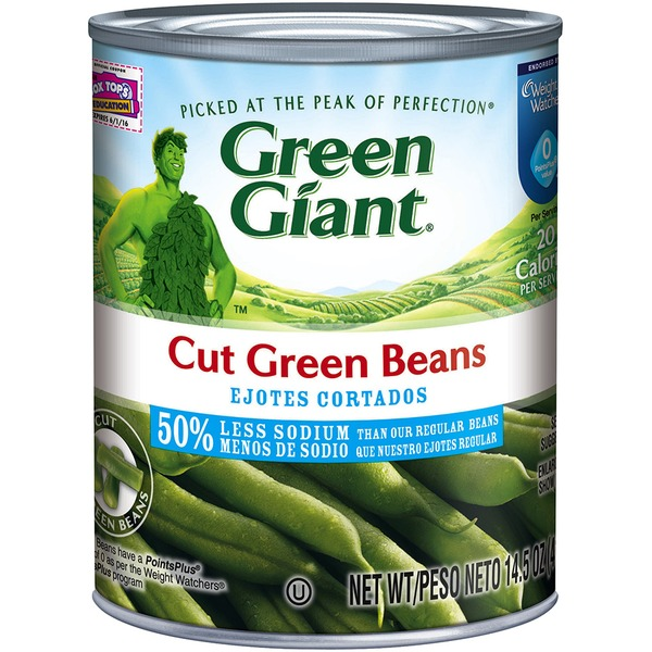 Green Giant Cut 50% Less Sodium Green Beans