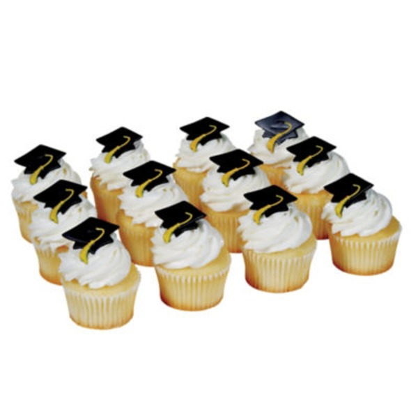 Graduation Cupcakes With Picks