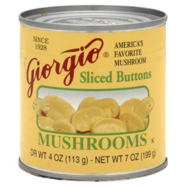Giorgio Sliced Buttons Mushrooms
