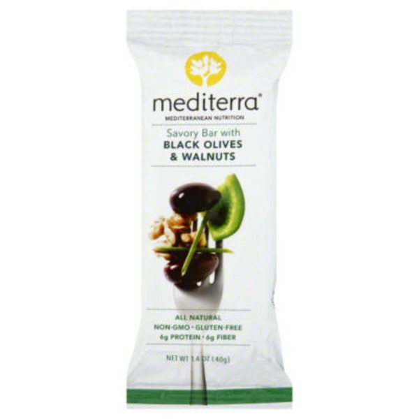 Mediterra Black Olives & Walnuts Savory Bar