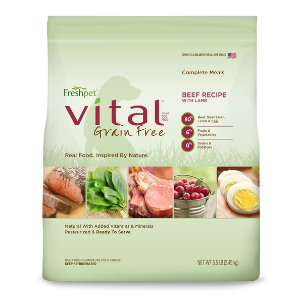 Freshpet Vital Basic Dog Food Grain Free Complete Meals Beef Recipe With Lamb