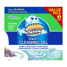 Scrubbing Bubbles Toilet Cleaning Gel Starter Kit, Glade Rainshower, 2 count, 1.34 Ounces