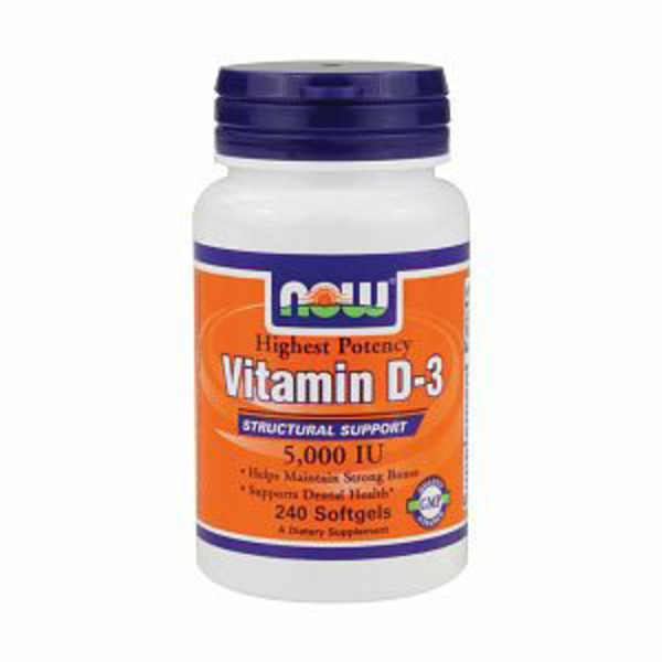 Now Vitamin D 3 5 000 Iu Softgels